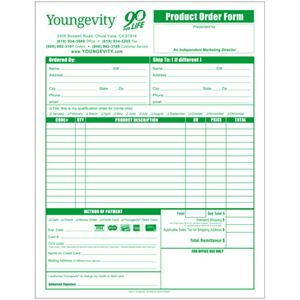 Picture of Youngevity Product Order Forms-English (10 Pack)